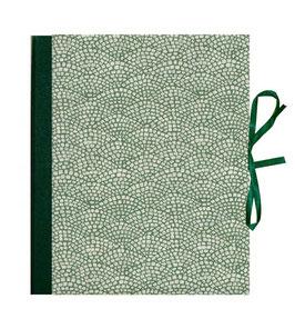 Ringbuchordner für DinA4 , 3 ,5 cm breit,  Leibziger Vorsatzpapier Hölzer grün