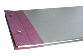 Schraubalbum Gästebuch, Reisetagebuch, Din A4 quer,mit offenem Buchrücken, in Ihren Wunschfarben
