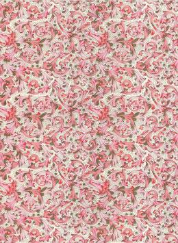 Florentiner / Italienisches Papier  50 x 70 cm Florentiner pink mit Golddruck