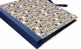 Ringordner 4 cm breit,mit Baumwollpapier ,Dandy Blue