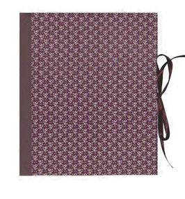 Ringbuchordner für DinA4 , 3 ,5 cm breit, Carta Varese Papier Mistelzweige aubergine