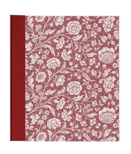 Ringordner Din A5 , 5 cm breit,mit Bügelmechanik , große Blumen rot