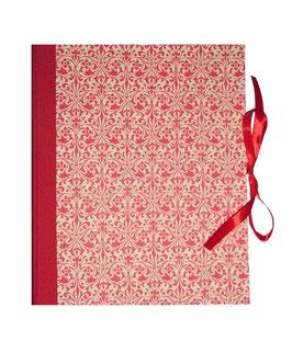 Ringbuchordner für DinA4 Ornamente rot, 3 cm breit
