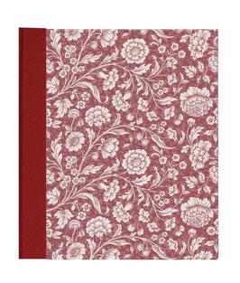 Ringordner Din A5, 3,5  cm breit, große Blumen rot zweifach Mechanik