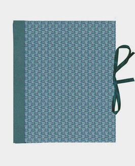 Ringbuchordner für DinA4 , 3 ,5 cm breit, Carta Varese Papier Mistelzweige blau grün