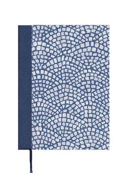 Kalender / Buchkalender / Taschenkalender 2019 DinA7, Italienisches Papier Hölzer blau