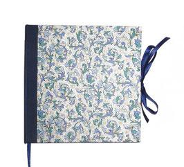 Gästebuch / Schreibbuch / Tagebuch , Florentiner Papier, Ornamente blau gold