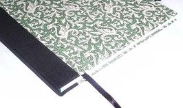 Gästebuch / Schreibbuch / Tagebuch Italienisches Papier Drachen grün schwarz