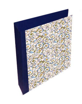 Ringordner DinA4 mit Bügelmechanik 6 cm breit, Ringordner ,Florentiner Papier Antique blau mit Golddruck