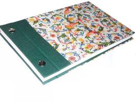 Fotoalbum Schraubalbum klein Ornamente bunt grün