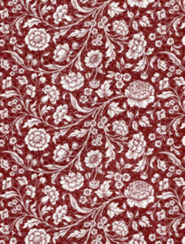 Italienisches Papier Carta Varese große Blumen rot