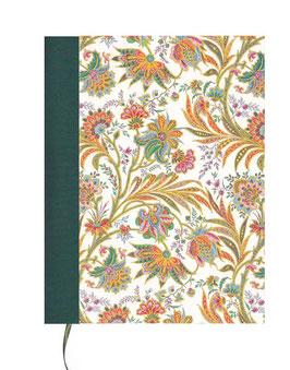 Kalender / Buchkalender / Tageskalender 2019 DinA5, Florentiner Papier buntes Fahnenkraut grün