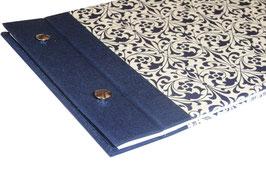 Fotoalbum Schraubalbum Din A5, Ornamente blau Querformat
