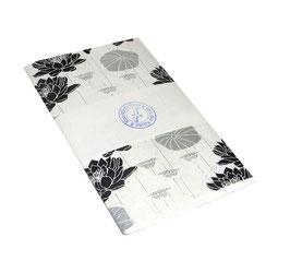 Notizheft / Skizzenheft Wasserlilien schwarz silber