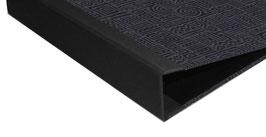 Ringordner DinA4 mit Bügelmechanik 5cm breit, Ringordner Baumwollpapier Azteka schwarz