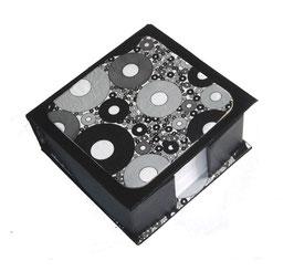 Zettelbox schwarz weiß
