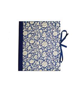 Ordner / Ringordner große Blumen blau, 3 cm breit