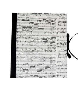 Ringbuchordner für DinA4 , 3 ,5 cm breit, Carta Varese Papier Noten schwarz
