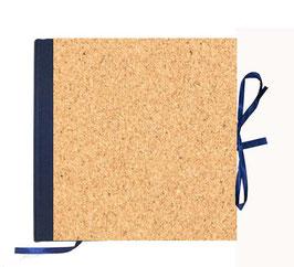 Gästebuch / Schreibbuch / Tagebuch, Kork Papier fein, dunkelblau