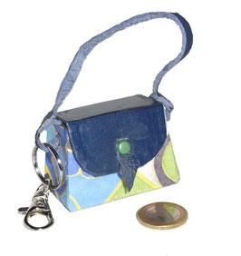 Tampon Tasche / Anhänger Mini blau grün