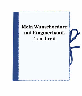 Wunschordner Ringordner 4 cm breit,mit Wunschpapier