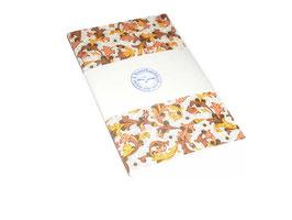 Notizheft / Skizzenheft ,Florentiner Papier Ornamente braun gold gelb