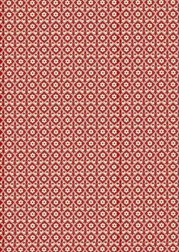Italienisches Papier Carta Varese kleine Lilien und Blümchen bordaux rot