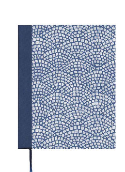 Kalender / Buchkalender / Tageskalender 2021 DinA5, Hölzer blau