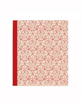 Ringordner DinA4 mit Bügelmechanik 5cm breit, Carte Varese Papier Ornamente rot