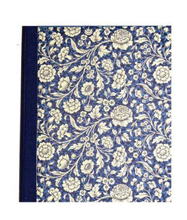 Ringordner Din A5, 3,5  cm breit, große Blumen blau zweifach Mechanik