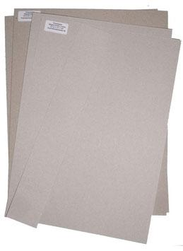 Graupappe Zuschnitte für eine DinA4 Mappe für Collegblöcke