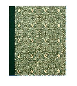 Ringordner Din A5, 3,5  cm breit, Vögel grün zweifach Mechanik