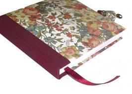 Tagebuch mit Schloß, elegante Blumen hell