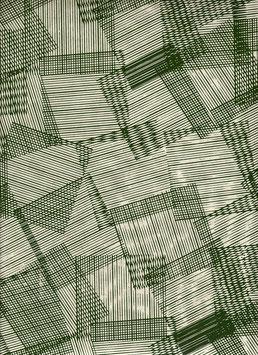 Nepal - Papier / Lokta Papier, Überlappende Streifen schilff moor