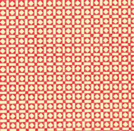 Leipziger Vorsatzpapier rote Quadrate Balken