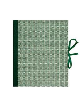 Ringbuchordner für DinA4 , 3 ,5 cm breit, Carta Varese Papier kleine Quadrate grün
