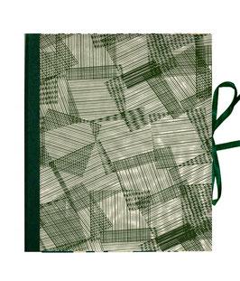 Ringbuchordner für DinA4 , 3 ,5 cm breit, Nepalpapier, Überlappende Streifen schilff moor