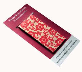 Magnetlesezeichen Blumen rot