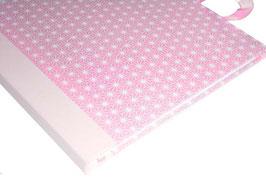 Gästebuch / Schreibbuch / Tagebuch japanischem Yuzen Papier, kleine Sternchen rosa
