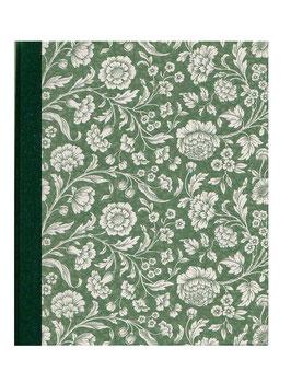 Ringordner Din A5, 3,5  cm breit, große Blumen grün weifach Mechanik