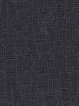 """Baumwoll Papier handgeschöpft, aus Nordindien   """" Azteka schwarz"""""""