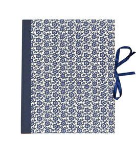 Ringbuchordner für DinA4 Blumenfeld blau, 3 cm breit