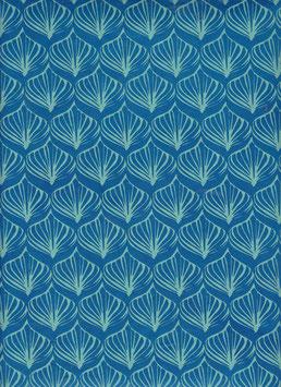 Nepal - Papier / Lokta Papier, Lotusblatt königsblau smaragdgrün