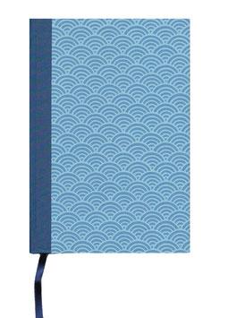 Schreibbuch Notizbuch Tagebuch , DinA5  ,Halbkreise hellblau