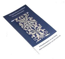 Magnetlesezeichen Ornamente blau