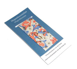 Magnetlesezeichen Ornamente rot blau gold