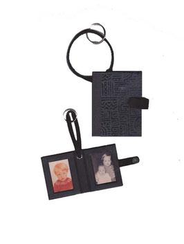 Fotoanhänger/Anhänger /Schlüsselanhänger / Taschenanhänger für Fotos / Passfotos Azteka schwarz