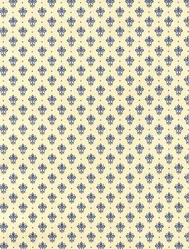 Florentiner / Italienisches Papier  50 x 70 cm Blumenkronen blau gold