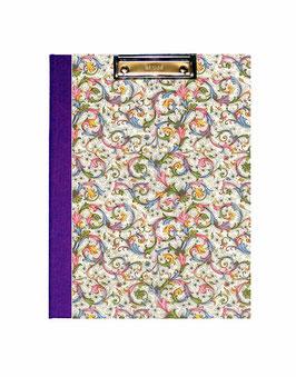 Klemmbrett Mappe DinA4 , Florentiner Papier Trend  lila