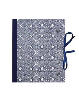 Ringbuchordner für DinA4 Vögel blau, 3 ,5 cm breit